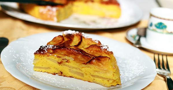 Рецепт пирога со свежими яблоками с