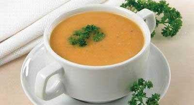 Суп пюре из чечевицы со сливками