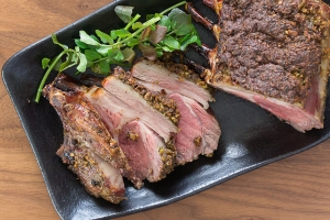 Smoked Pistachio Rack of Lamb